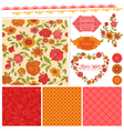 Scrapbook Design Elements - Orange Flowers vector image vector image