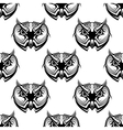 Seamless pattern of wise old owls vector image vector image