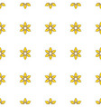 seamless pattern with cartoon yellow flowers vector image vector image