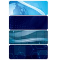 set of blue abstract horizontal backgrounds vector image vector image