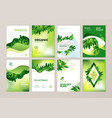 set of brochure and annual report design tempaltes vector image vector image