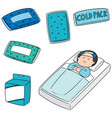 set of cold pack vector image