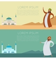 Set of Muslim banner1 vector image