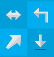 set of simple arrows icons vector image vector image