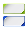 Set of two colorful banners vector image