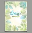 spring leaves vertical background nature seasonal vector image