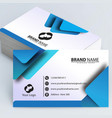 stationery business card vector image vector image