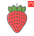 Strawberry color line icon food and keto diet