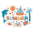 Summer colorful composition vector image vector image