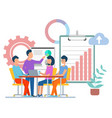 teamwork business conference analysis info vector image