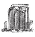 temple of the olympian zeus worship of athena vector image vector image