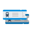 train tickets flat isolated on white vector image vector image