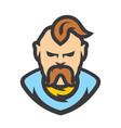 ukrainian cossack cartoon vector image vector image