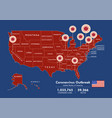 usa map country coronavirus concept vector image