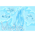 waterfall winter vector image
