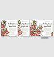 wedding invite invitation menu card floral vector image