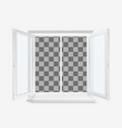 white open office plastic window window front vector image vector image