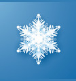white paper snowflake new year and christmas vector image vector image