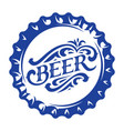 with stylized beer bottle cap vector image vector image