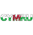 word cymru welsh translation wales with vector image vector image