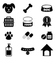 Dog Icons Set vector image