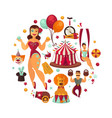 circus show performance elements and accessories vector image