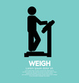 Weigh Graphic Symbol vector image