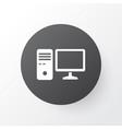 pc icon symbol premium quality isolated personal vector image