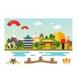 Symbols and landmarks of China vector image