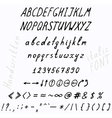 10 fonts vector image vector image