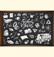 back to school hand drawn icons vector image