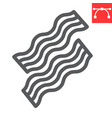 bacon line icon food and keto diet stripes