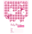 bagirl invitation with stork vector image vector image