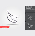 bananas line icon with editable stroke vector image vector image