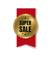 best sale badge with ribbon and white background vector image