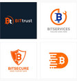 bitcoin logotype collection vector image vector image
