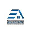 blue home real estate icon logo vector image vector image
