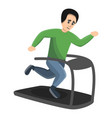 boy running at treadmill icon cartoon style vector image vector image