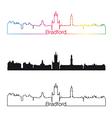 Bradford skyline linear style with rainbow vector image vector image