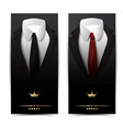 business clothing vertical banners vector image vector image