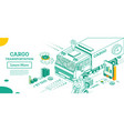 cargo truck transportation isometric commercial vector image