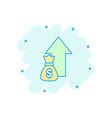 cartoon money trending icon in comic style money vector image