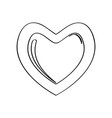christmas gingerbread with a heart shape vector image vector image