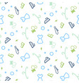 cleaning service seamless pattern line icons vector image
