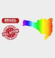 colored mosaic santa catarina state map and grunge vector image vector image