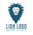 company logo design lions head template logotype vector image vector image
