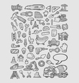Construction icons sketch vector image vector image