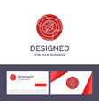 creative business card and logo template vector image