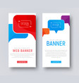 design of white web banners with colored bubbles vector image vector image