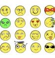 Drawn Smiles vector image vector image